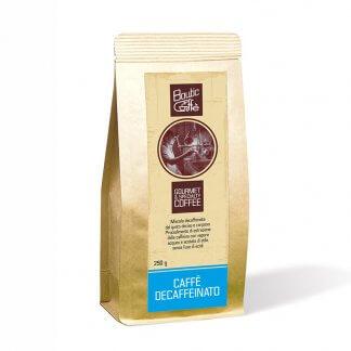 Café décaféiné artisanal italen. Café gourmet spéciality coffee torréfié à l'ancienne en Italie, origine Nicaragua, Ethiopie, Honduras