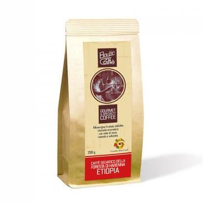 Café artisanal d'Ethiopie 100% arabica torréfié en Italie par Boutic Caffè notre Maître torréfacteur. Café certifié Slow Food