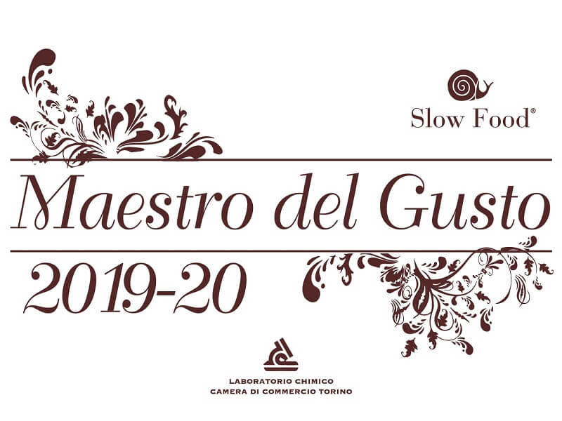 Maestro del Gusto, Maître du Gout certification Slow Food Chambre de Commerce de Turin