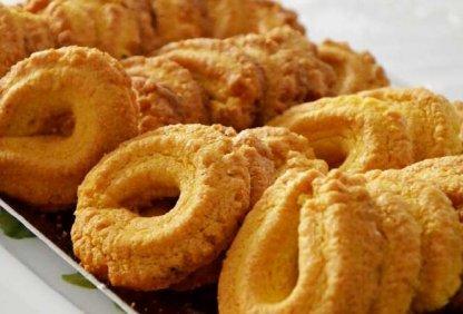 Paste di meliga, biscuit artisanal ancien fait à la main selon la recette traditionnelle